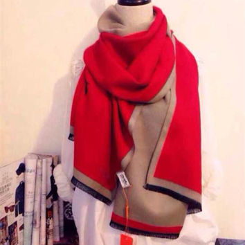 Cashmere Double Sided Tassels Scarf [9572825999]