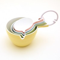 Pastel Melamine Measuring Cups (set of 4)