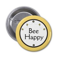 """""""Bee Happy"""" Cute Bumble Bees Honeycomb Pattern"""
