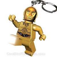 Lego C-3PO Star Wars LED Light Keychain