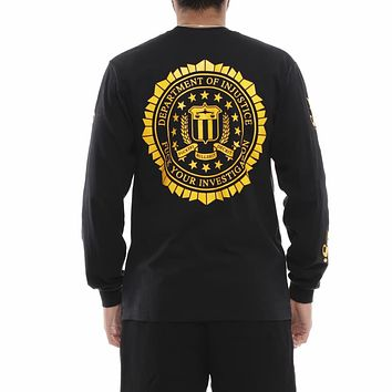 FYI Long Sleeve T Shirt Black