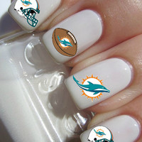 Miami Dolphins Nail decals- NEW LOGO