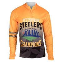 Pittsburgh Steelers Super Bowl XLIII  Official NFL Champions Poly Hoody Tee