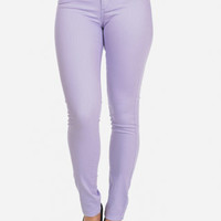Discounted Colored Skinny Jeans (Lavender) in Jeans