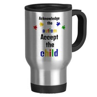 Acknowledge the Autism, Accept the Child Coffee Mug