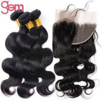 Online Shop Malaysian Body Wave with Frontal Closure VIP Beauty Malaysian Virgin Hair 3 Bundles with Full Lace Frontal Moda Human Hair Weave | Aliexpress Mobile