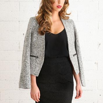 Lenie Grey Structured Blazer