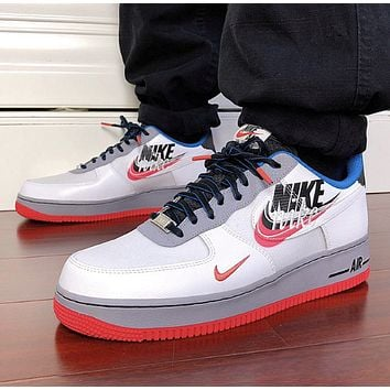 Nike Air Force 1 Script Swoosh AF1 New fashion letter hook couple running shoes