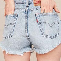 Urban Renewal Recycled Levis Cutoff Denim Short - Urban Outfitters