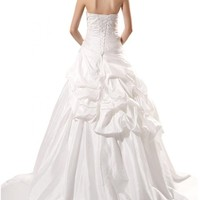 Sunvary Women's Plus Size Ball Gown Strapless Bridal Dress