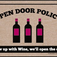 Open Door Policy, a Funny Doormat