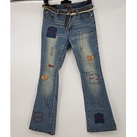 Nesso Patchwork Boot cut Jeans