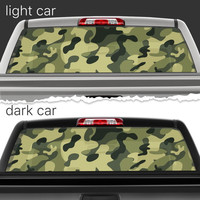 Perforated Vinyl Decal Rear Window Car Military Camouflage N072 FRST