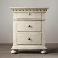 """St. James 24"""" Closed Nightstand Antiqued White"""