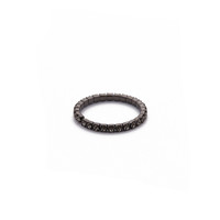 Pave Wrap Ring (Gunmetal)