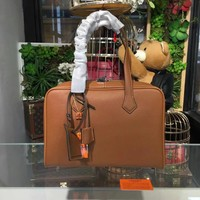 HERMES LEATHER VICTORIA HANDBAG SHOULDER BAG
