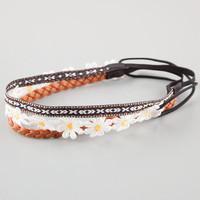 FULL TILT 3 Pack Ethnic/Braided/Daisy Headwraps | Hair Accessories