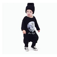 Children's Clothing Boy Autumn Cotton Boys Clothing Set Baby Clothes One Piece Jumpsuit Overalls Cartoon THE MOON