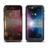 The Neon Glowing Grill Mesh Apple iPhone 6 LifeProof Fre Case Skin Set