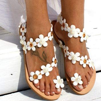 Hot style sells beaded flat sandals for women