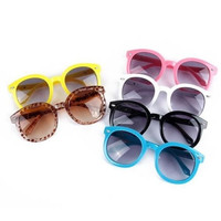Lovely Toddlers Kids Boy Girls Candy Color Glasses Round Sunglasses Eyewear = 1958157764