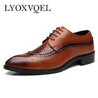 PU Leather Men's Dress Shoes / Men's Black Dress Shoes