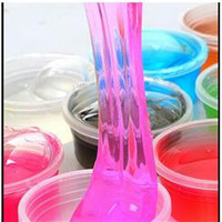 1piece lots 12 colors can be non-toxic blowing bubbles crystal mud clay can draw slime Funny Toys