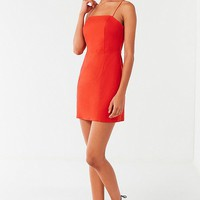 UO Colette Stretch Linen Mini Dress   Urban Outfitters Canada