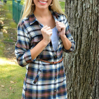 Plaid About You Tunic Top