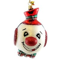 Jinglenog JUGHEAD Blown Glass Ornament Christmas Snowman 80080