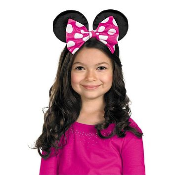 Minnie Mouse Ears with Reversible Bow