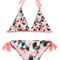 Girl's Hurley Reversible Two-Piece Swimsuit,