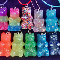 BIg Gummy Bear Resin Necklace or Keychain