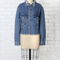Distressed Cutoff Denim Jacket