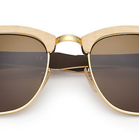 Ray-Ban RB3016M 1179 51-21 CLUBMASTER WOOD Light Brown sunglasses | Official Online Store US