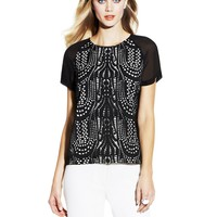 Two by Vince Camuto Chandelier Laser Cut Top