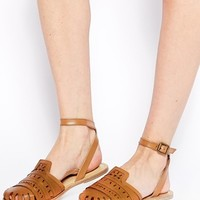 ASOS JUST IN TIME Leather Flat Shoes