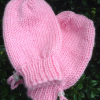 Special Needs Adaptive Thumbless Knitted Mittens for Child or Youth