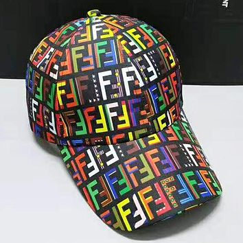 Fendi New fashion multicolor letter couple cap hat