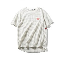 Stripes Summer Round-neck Strong Character Casual T-shirts [9790789315]