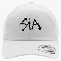 Sia Embroidered Cotton Twill Hat