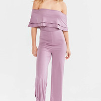 Oh My Love Emily Off-The-Shoulder Jumpsuit - Urban Outfitters