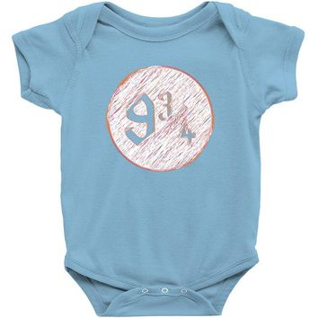 nine three quarters harry potter hogwarts Baby Onesuit