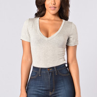 Favorite Tee Bodysuit - Heather Grey