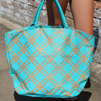 Shimmer Juco Tote {Blue}
