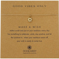 """Dogeared Gold Make A Wish Good Vibes Sun Gold Necklace, 16"""""""