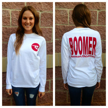 OU Boomer Norman comfort colors long sleeve t-shirt-more colors