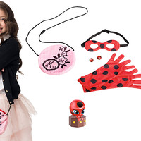 Bandai Miraculous Be Marinette and Ladybug Role Play Pack Dress Up Halloween Costume Set
