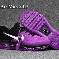 DCCKY4E Nike Air Max 2017 KPU Purple, Black & White Women's Running Shoes Sneakers