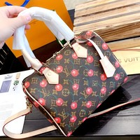 LV tide brand female cherry pattern printing female pillow bag handbag